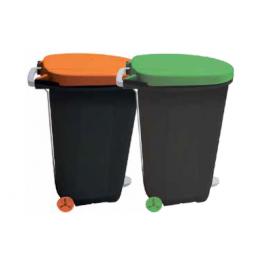 ΚΑΔΟΣ ΑΠΟΡΡΙΜΑΤΩΝ 95L (μαύρο/πορτοκαλί, πράσινο) 40012