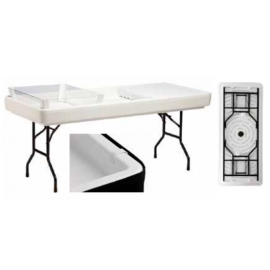 ICE - TABLE Μακρόστενο πτυσσόμενο τραπέζι από HDPE